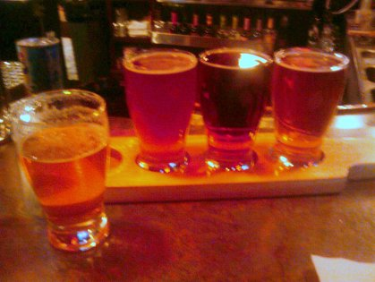Russian River Blind Pig, DFH Red and White, Troeg's Mad Elf, Boulder's Mojo IPA